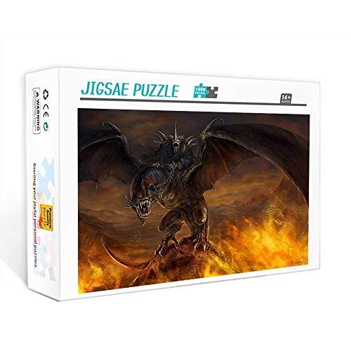 Puzzle de 1000 piezas para adultos El señor de los anillos anillo malvado Juego familiar, trabajo en equipo, regalo y regalo para amantes o amigos. 75x50cm