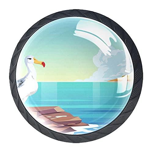 Albatros Bird, 4 piezas de pomos de gabinete de cocina ABS estilo Morden manija cajón cajones pomos