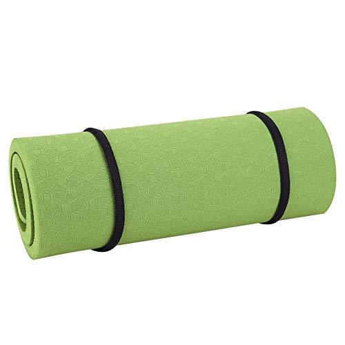 VGEBY1 Ginocchiera Yoga, 8mm Fitness Gomiti Yoga Ginocchio Protettivo Cuscino Ginocchio Stuoia per Yoga, Pilates, Stretching, Casa, Palestra(Verde Scuro)