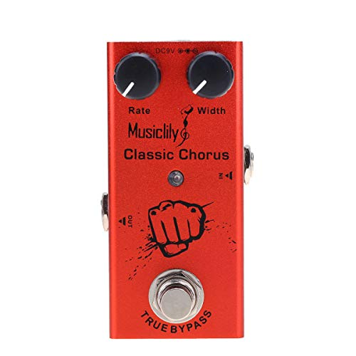 Musiclily Basic Mini Chitarra Elettrica Effetto Pedale DC 9V Adapter Powered True Bypass, Classic Chorus