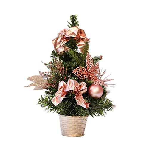 Weihnachtsbaum Yuan Kreative Verzierungen, PVC-Material, Roségoldfarbener Pollen, Matt Balldekoration, Das Einkaufszentrum Bar Cafe Szenen Stütze 3 Größen (Color : 30cm)