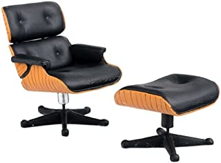 Aztec Imports, Inc. Dollhouse Miniature Eames Chair and Ottoman
