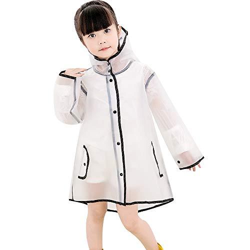 MINIRAH! Kids Chubasquero Chaqueta Impermeable para niños Impermeable Rain Poncho Lluvia Rain Wear Cute Unisex Storm Break Rain Slicker para Chicos Chicas