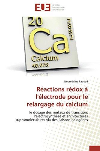 Réactions rédox à l'électrode pour le relargage du calcium (OMN.UNIV.EUROP.)