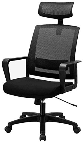 Game Chair Office Chair, Black Ergonomic Adjustable Desk Chair with Lumbar Support - Thick Seat Cushion - Adjustable Headrest Seat Height - Reclines Swivel Chair -17995V9V1E