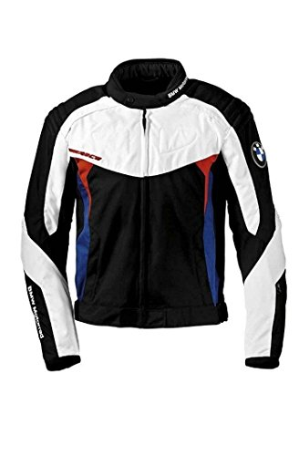 BMW Genuine Motorrad Motorcycle Race Jacket Black White Blue Red Size XL