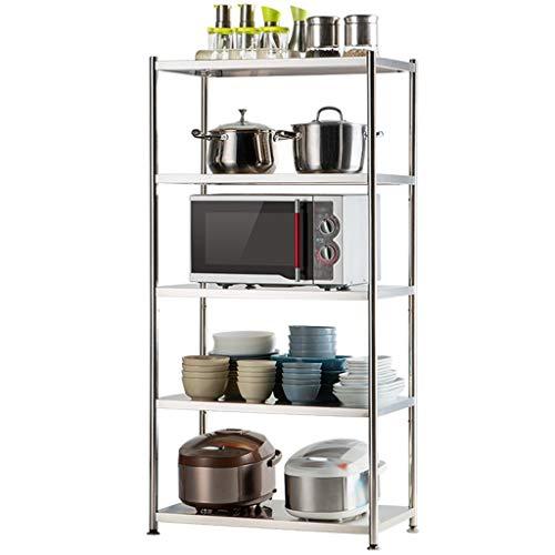 Suministros de organizador de cocina Soporte de la planta for la seguridad del almacenamiento de cocina Cocina Rack bastidor industrial Pan Pot Rack de utensilios de cocina Exhibición del estante del