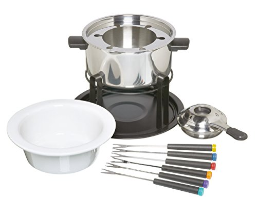 Kitchen Craft - Set de Fondue de Acero Inoxidable y cerámica (con 6 Pinchos)