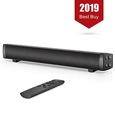 PC Soundbar, Wired and Wireless Computer Speaker Home Theater Stereo Sound Bar for PC, Desktop, Laptop, Tablet, Smartphone, TV [RCA, AUX], Black by Aisung