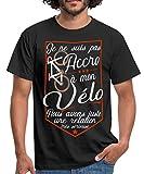 Spreadshirt Pas Accro À Mon Vélo T-Shirt Homme, L, Noir