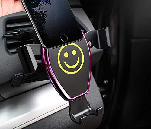 ZAIBANG Soporte para teléfono de coche con rejilla de ventilación de aire, soporte de gravedad, compatible con iPhone SE2/11 Pro/XR/XS Max/X/8/7/6, Samsung Note10/S20/S10/S9/A71, Huawei P30, Sony