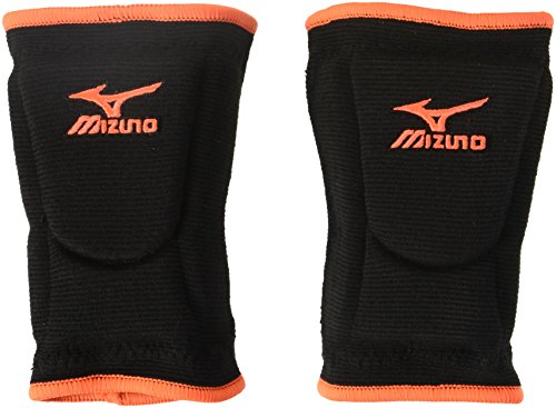 Mizuno LR6Hightlighter Kneepad, Black/Blazing Orange