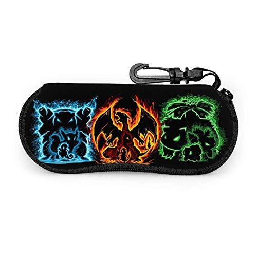 World of Eyeglass Case, Portable Travel Zipper Sunglasses Case Glasses Bag Guard Set