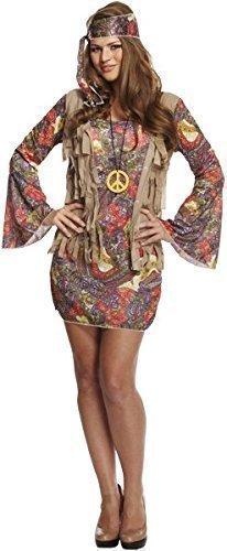 Fancy Me Femme Sexy Hippie Groovy Hippie Chick 1960s Années 1970 Costume Déguisement