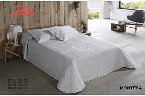 Colcha bouti Montesa - Blanca, Cama de 150 cms. Medidas:250x270 cms.