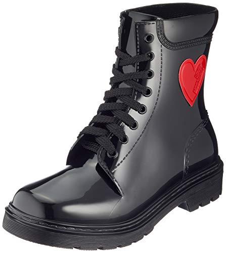 Love Moschino Damen St.ttod.Gomma 30 Mm, PVC Combat Boots, Schwarz (Nero 000), 37 EU
