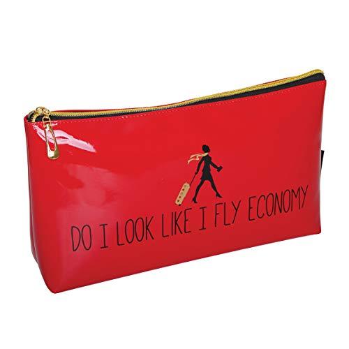 Trousse de maquillage originale « DO I LOOK LIKE A FLY ECONOMY » par FMG RED (Grand sac de toilette)