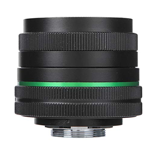 DAUERHAFT MC Mehrschichtbeschichtung Metalllinse C-Mount Foucsing-Linse 6 Elemente in 4 Gruppen, für Olympus, für Canon, für Fuji, für Sony Mirrorless Camera