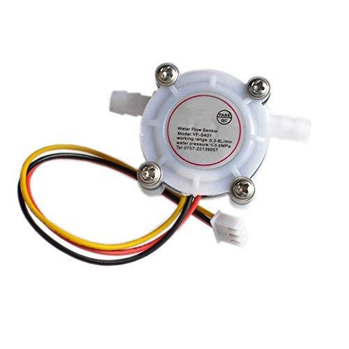 ICQUANZX YF-S401 Sensor de Flujo de Agua Medidor de Flujo Medidor de Flujo Dispensador de café Contador de Control de Fluido 0.3-6L / min