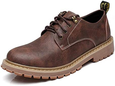 Men's Casual Oxford Shoes Leather Dress Shoes Waterproof Work Shoes for Men