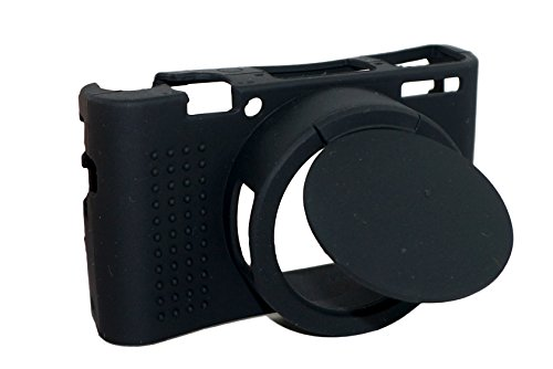 Sacchetto della copertura della lente rimovibile in silicone protettiva del gel molle di gomma della macchina fotografica copertura di caso per Sony Cyber-shot DSC- RX100M5 / RX100M4 / RX100M3 fotocamera nero