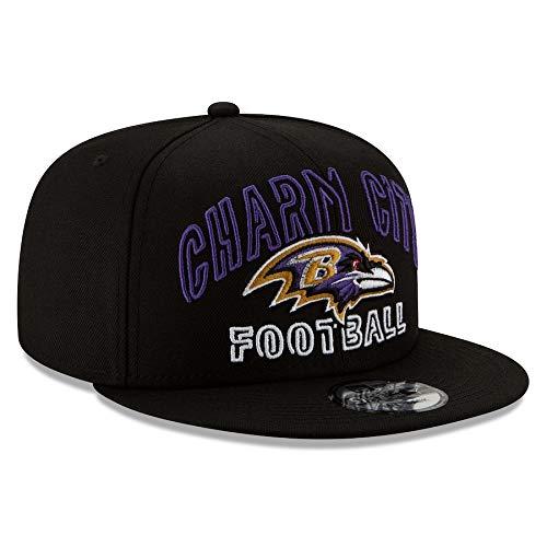 New Era 2020 NFL Draft 9FIFTY Snapback HAT (Alternate Black) (Baltimore Ravens)