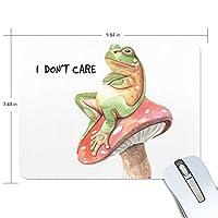 カエル かわいい動物 マウスパッド 滑り止めゴム製裏面 おしゃれ 厚くした 事務用のマウスパッド 携帯用 25X19CM