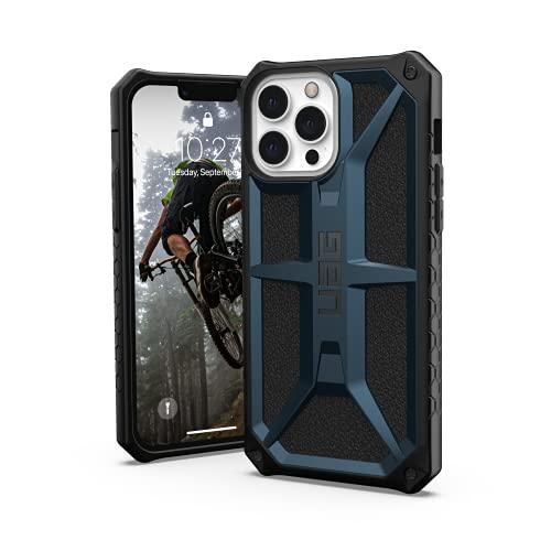 Urban Armor Gear Funda Protectora Monarch Compatible con Apple iPhone 13 Pro MAX [Compatible con Carga inalámbrica, Protección Militar estándar de 5 Capas, Borde Elevado] Azul (Mallard)