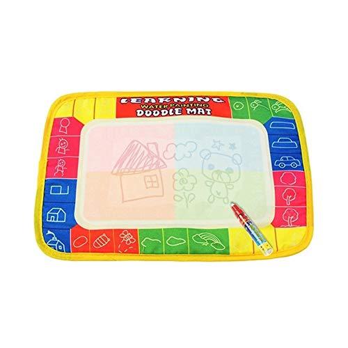 QiKun-Home 29X19 cm Alfombra de Pintura para niños Tablero de Dibujo de Agua de poliéster Durable Alfombrilla de Escritura para niños Pluma mágica Doodle Juguete Multicolor