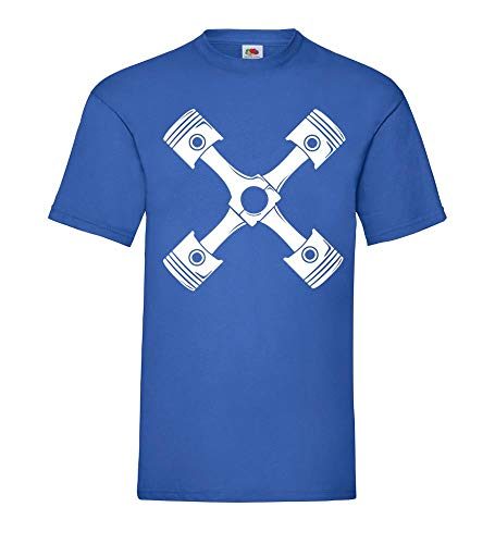 Kreuz aus Motorkolben Männer T-Shirt Royal Blau 3XL - shirt84.de