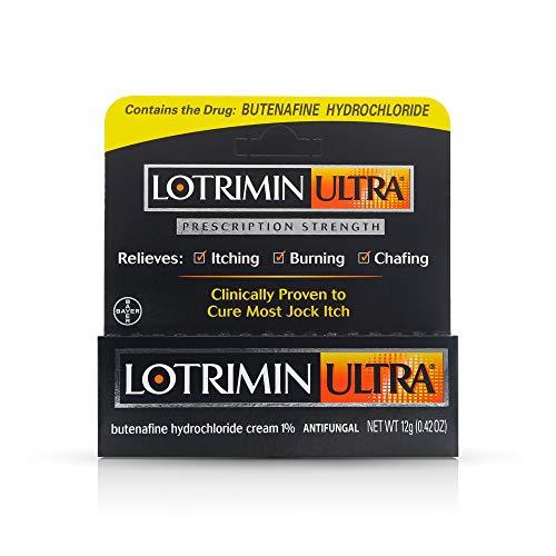Lotrimin Ultra Antifungal Jock Itch Cream, Prescription Strength Butenafine Hydrochloride 1% Treatment, Clinically Proven to Cure Most Jock Itch, Cream, 0.42 Ounce,Pack of 1