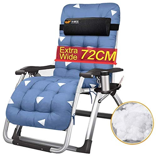 DSHUJC Sun Lounger Sun Loungers Recliners, Zero Gravity Patio Deck Chair Reclining Garden Chair Outdoor Folding Portable With Cushions Lunch Break Chair