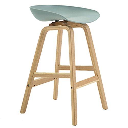 Tabouret haut en bois massif européen chaise chaise de café chaise à manger maison 49 * 46 * 76cm (Color : Gray)