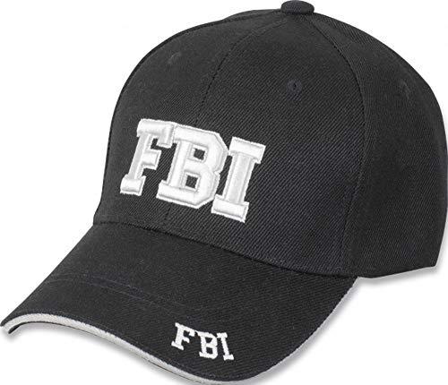 Tiendas LGP- Barbaric- Gorra Bordada FBI, Talla única. con Presilla de adaptación, Color Negro