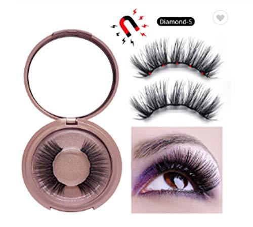 Magnetische Wimpers met Magnetic Eyeliner, Herbruikbare Magnetische valse wimpers Kit, magnetische Eyeliner en Lashes, geen lijm Waterproof natuurlijke look Herbruikbare