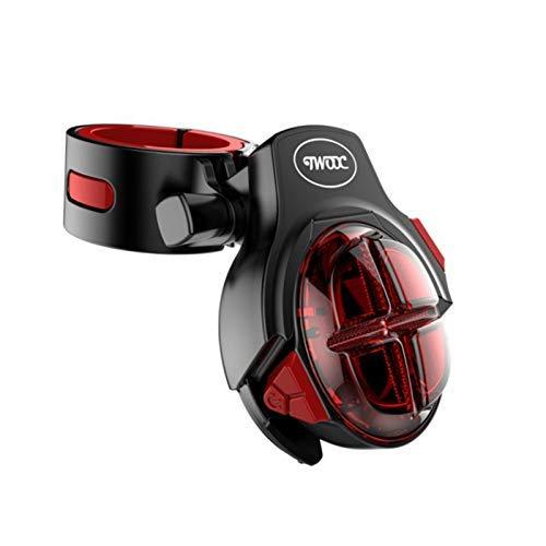 LED Smart achterlicht, remlicht inductie, fiets achterlicht, waterdichte fietslicht, mountainbike lampje, opladen via USB Huangwei7210