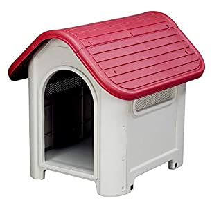 Gardiun Kira Resina Caseta de Perro, Rojo