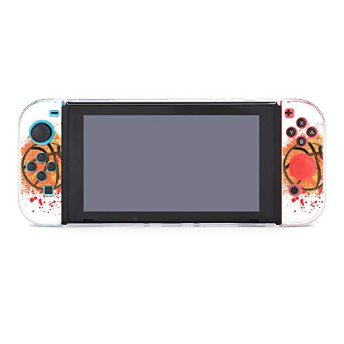 Hülle für Nintendo Switch Basketball Grunge Fünf Stücke Set Schutzhülle Case Kompatibel mit Nintendo Switch Spielekonsole