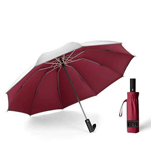 □ XXMK □ Paraguas a prueba de viento □ Plata titanio c