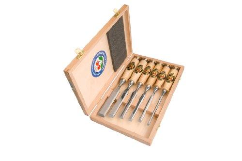 Kirschen Werkzeuge 1101HK Set scalpelli da legno, 6 pezzi, 6-26 mm, laccati