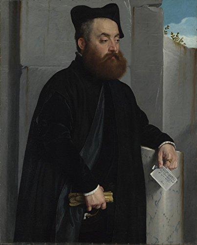 The Museum Outlet–Giovanni battista Moroni–Canon Ludovico di terzi–Canvas Print Online Buy (101,6x 127cm)