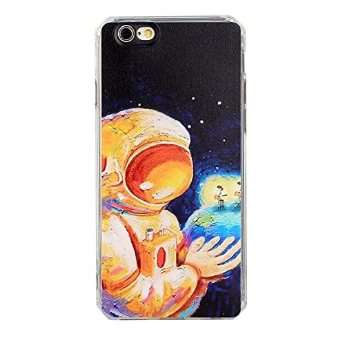 HALPP Compatible con la Funda iPhone 6 Arte de la Pintura al óleo, Pintura TPU Funda Protectora de Silicona para teléfono Funda Protectora para Funda iPhone 6 - Cielo