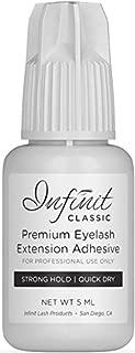 STRONG BOND Eyelash Extension Glue - Infinit Classic Eyelash Glue for Individual Eyelashes (5 ML) | Dry Time 3-5 Sec | Retention - 7 Weeks | Strong Bond Eyelash Adhesive | Professional Use Only