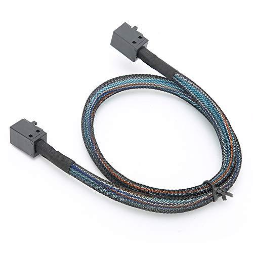 Cable de datos, cómodo y duradero cable adaptador de 12 Gbps, para conmutadores, enrutadores(0.5 meters)