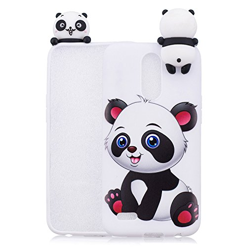 HopMore Compatible con Funda LG K10 2017 Silicona Motivo 3D Divertidas TPU Gel One Piece Kawaii Ultrafina Slim Case Antigolpes Caso Protección Flexible Cover Design Gracioso - Un Panda
