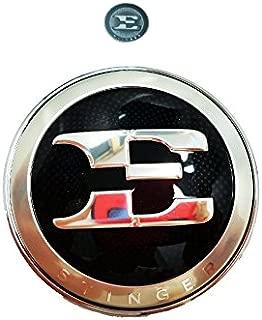 Genuine OEM E Logo Front Hood Emblem Badge & E Logo Metal Sticker For 2017 2018 2019 Kia Stinger