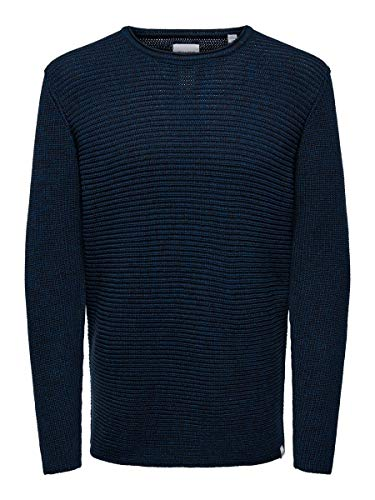 ONLY & Sons ONSSATO 7 Multi Clr Knit Noos Maglione, Gibraltar Sea, S Uomo