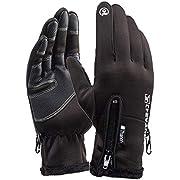 LPVLUX サイクリンググローブ タッチスクリーン 冬の手袋 厚いウォームグローブ 野外 クライミング ランニング スキーイング ライディンググローブ 男女向け D2.2