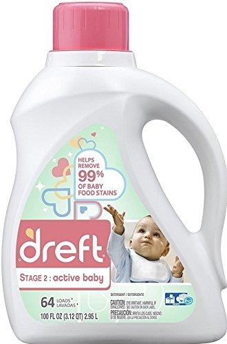 Dreft Stage 2: Active Baby Liquid Laundry Detergent - 100 fl oz
