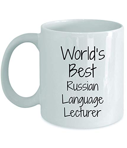jingqi Taza De Cerámica,Taza Té Café Gift For Russian Language Lecturer-World'S Best-Coffee Tea Cup Funny Presents Birthday Christmas Anniversary Mug